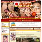 Japanese Bukkake Orgy just dumped pass