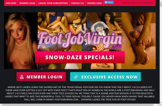 Footjob Virgin tested accounts
