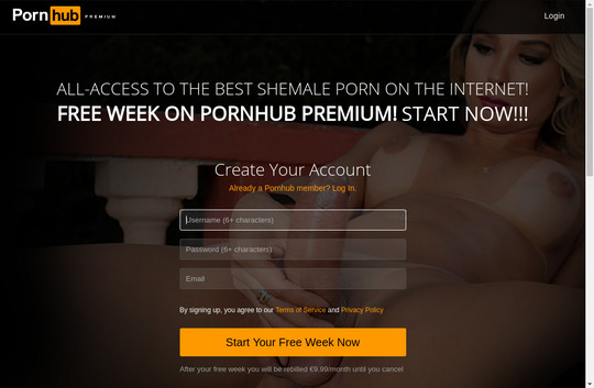 Pornhub Shemale working login