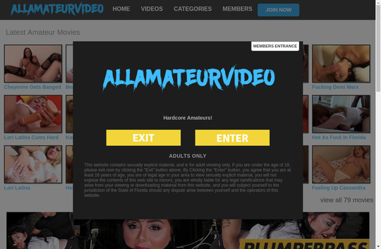 allamateurvideo.com working accounts