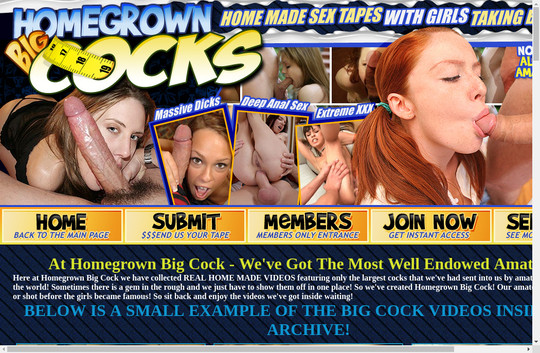Homegrown Big Cocks fresh dump passwords
